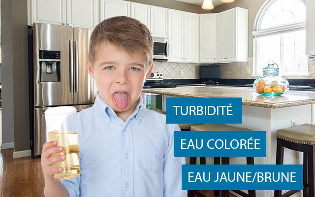 Problème eau colorée
